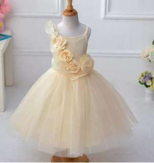Princess Dress Spaghetti Kids girl gown