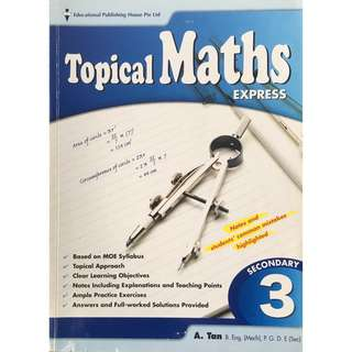 Topical Maths Express Secondary 3
