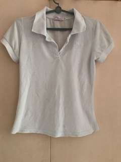 White polo collared tee shirt