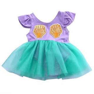 ⭐️Instock⭐️ Mermaid Romper Tutu Dress