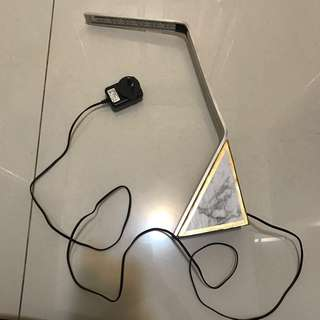 Marble and gold LED wooden and aluminium desk lamp