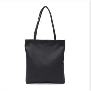 BN Black PU Leather Unisex Tote Bag