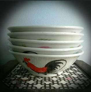 Old vintage collectable cock bowl