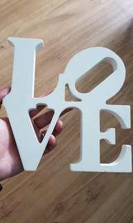 'LOVE' Wooden Deco