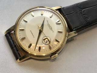 IWC (18K Yellow Gold & 35 mm) Vintage Watch
