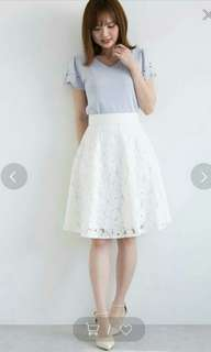 《限時》proportion body dressing lace skirt