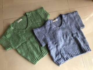 Knitted vest for girls ($10 for both)