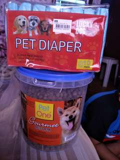 Take all dog food/diaper