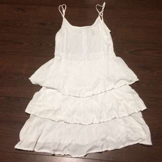 White Summer Dress Size 8