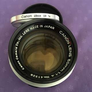 """Canon LTM 50mm f1.4 lens """"Japanese Summilux"""" for Leica M (with adapter, not included)"""