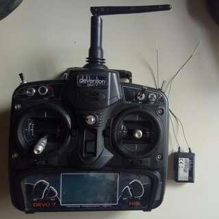 Quadcopter Controller Devo7 With Receiver