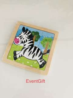 Zebra (animal kingdom theme) wooden puzzle- toddlers birthday goodies favors, goodie bag gift, goody bag packages