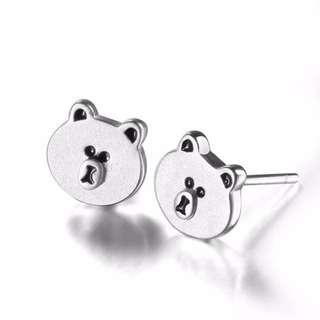 ERN-049 • S925 Silver Cute Bear Stud Earring