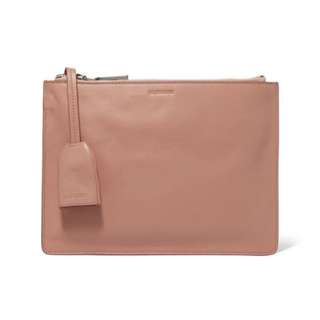 Jil Sander Baby Pink Leather Clutch (new with dust bag)