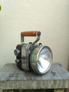 Antique National brand torch light radio