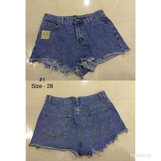 Denim shorts for sale!