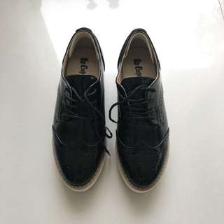 Lee Cooper Platform Brogue Shoes