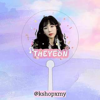 Taeyeon Semi Transparent Hand Fan