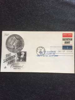 US 1965 Salvation Army FDC stamp