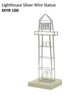 Lighthouse silver wire statue