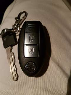 Nissan latio remote key