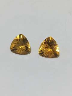 Trillion cut citrine