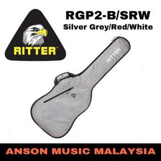 Ritter Performance RGP2-B/SRW Bass Gig Bag, Silver Grey/Red/White