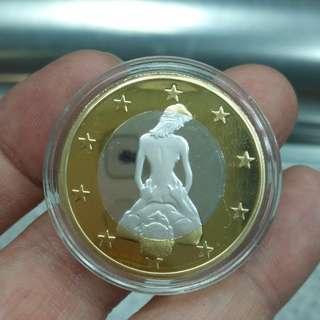趣味情色歐元--6 SEX EUROS--金銀双色紀念樣幣(非流通)