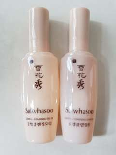 New 15+15ml Sulwhasoo Gentle Cleansing Oil and Gentle Cleansing Foam EX