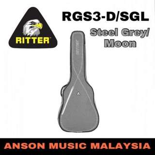 Ritter Session RGS3-D/SGL Dreadnought Acoustic, Steel Grey/Moon