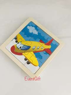 Aeroplane wooden puzzle for transportation theme party goodies favors, goodie bag gift, goody bag packages