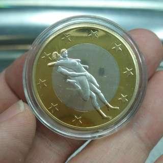 趣味情色歐元--6 SEX EURO--金銀双色紀念樣幣(非流通)