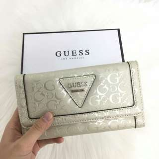AUTHENTIC GUESS 3FOLD LONG WALLET