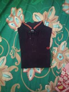 Fred perry polo warna navy black