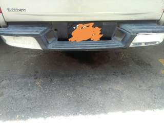 REAR BUMPER FOR ISUZU DMAX