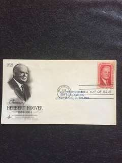US 1965 Herbert Hoover 31st POTUS FDC stamp