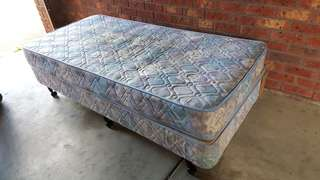 FREE single bed frame and mattress