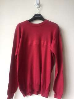 Emporio Armani red sweater. Made in Italy