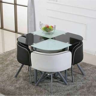 Space Saver Two Tone Dining Set 4/6