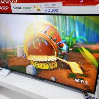 Led Tv Sharp 50 inch ANTI PETIR (Kredit Gratis 1x Angsuran)