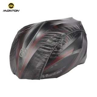 Monton Black Bike Helmet Rain Cover
