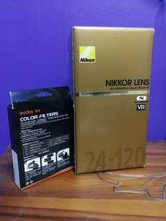 NIKON 24-120mm F4G AF-S + GODOX SPEEDLITE COLOR FILTERS