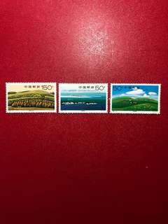 中國郵票1998 -16-錫林郭勒草原郵票一套