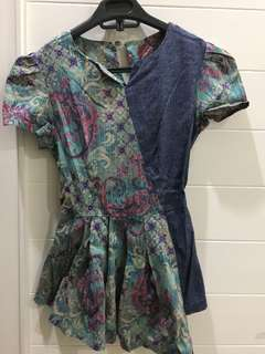 Baju atasan motif batik
