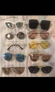 Sunglasses 100/each!