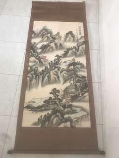 Chinese brush painting 2m by 75 cm