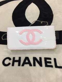 Chanel clutch white patent