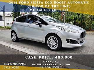 Ford Fiesta 2014 Ecoboost Automatic (1.0 - Top of the line)