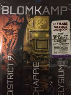 Blomkamp³ Limited Edition Collection - Chappie, District 9, Elysium Blu-ray