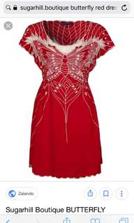 Sugar Hill Boutique Butterfly Red Dress